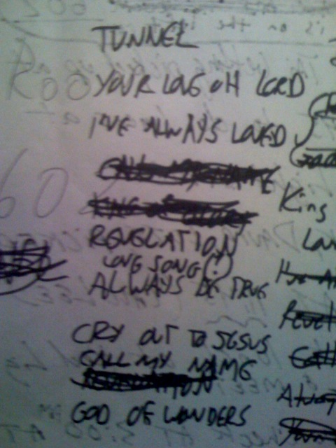Setlist from WAY-FM (this just might be the sloppiest setlist ever!)